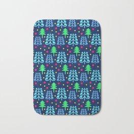 Christmas trees pattern Bath Mat