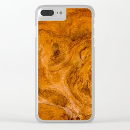 Natural Stone Art-The Cistern, Gold Butte, NV Clear iPhone Case