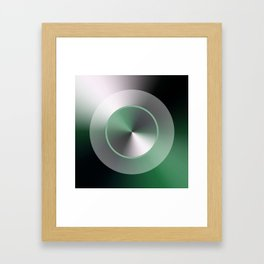 Serene Simple Hub Cap in Green Framed Art Print