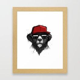 Dope Bear Framed Art Print