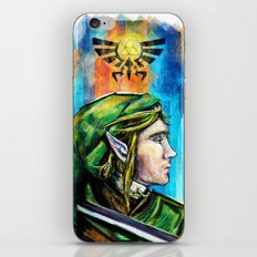 Link from the Legend of Zelda Painting. The Proud Hyrulian Warrior. iPhone & iPod Skin