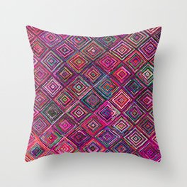 N46 - Arteresting Colored Traditional Boho Moroccan Artwork. Throw Pillow