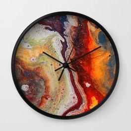 Fiery closeup Wall Clock