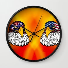 Confederate and Union Eagles Wall Clock
