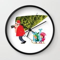 Buying the Christmas Tree Wall Clock