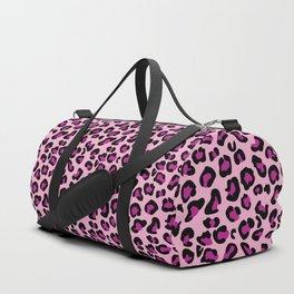 Leopard-Pink+Black+Purple Duffle Bag