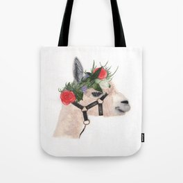 Boho Alpaca-Watercolor Tote Bag