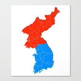 Korean Map - Patriot Canvas Print