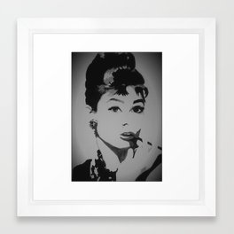 I Luv Audrey Framed Art Print