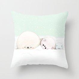 Cozy seals Throw Pillow