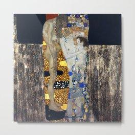 The Three Ages of Woman by Gustav Klimt Metal Print