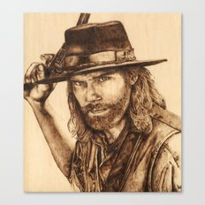 Hell on Wheels Inspired, Mr. Bohannon Canvas Print