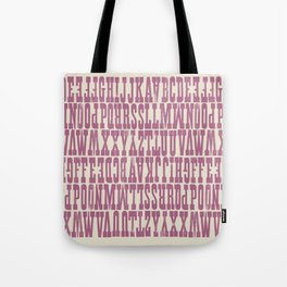 Pink Playbill Tote Bag
