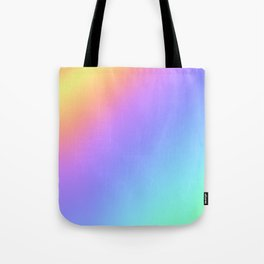 Holographic Foil Multi Colored Pattern Colorful Gradient Abstract Rainbow Tote Bag