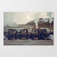 iceland Canvas Prints featuring Iceland by very giorgious