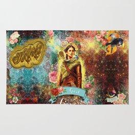 Katniss - Girl on Fire Rug