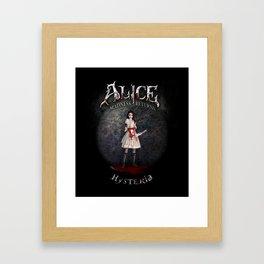 Alice Madness Returns Hysteria Game Design Framed Art Print