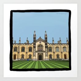 Cambridge struggles: Corpus Christi College Art Print