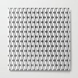 Gamma - Greek Fonts Patterns_Alphabet Metal Print