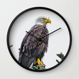 Bemidji Eagle II Wall Clock