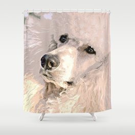 Pink poodle Shower Curtain