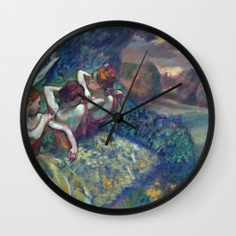 Edgar Degas Four Dancers Wall Clock