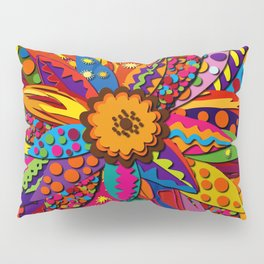 Groovy Feather Flower Pillow Sham