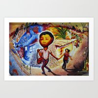 Ciao Mexico, Street Art Art Print