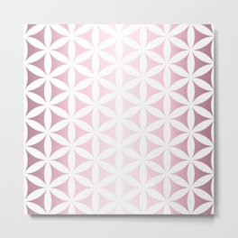 Pink seed of life pattern Metal Print