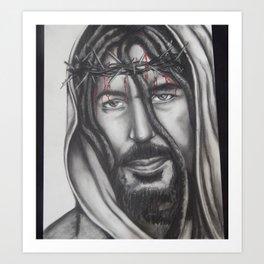 Nombre De Jesus (with dreads) Art Print