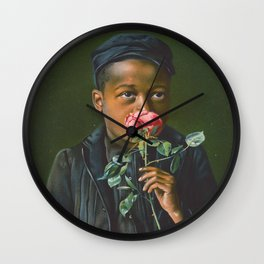 Vintage African American Art Wall Clock