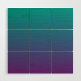 Ombre | Teal and Purple Wood Wall Art