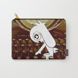 Typewriter Bunny # Bob The Lop Carry-All Pouch