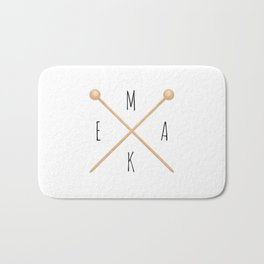 MAKE  |  Knitting Needles Bath Mat