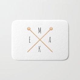 MAKE  |  Knitting Needles Bath Mat