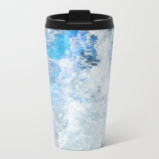 Blue Ocean Glow Metal Travel Mug