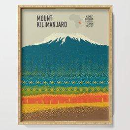 Mount Kilimanjaro Serving Tray