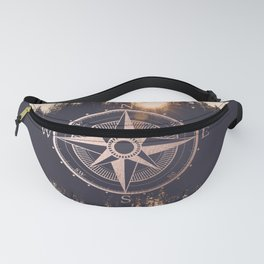 Rose Gold Compass Forest Fanny Pack