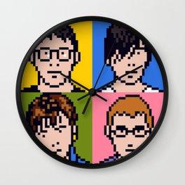 Blur Minimal Pixel Album Cover Wall Clock