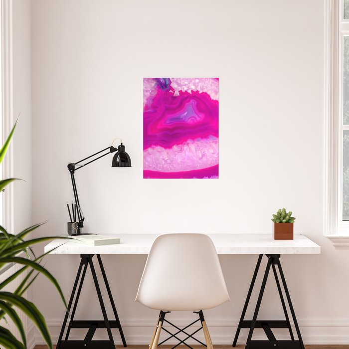 Pink ectoplasm agate Poster