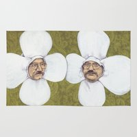 men Area & Throw Rugs featuring Flower Men by Jason Ratliff