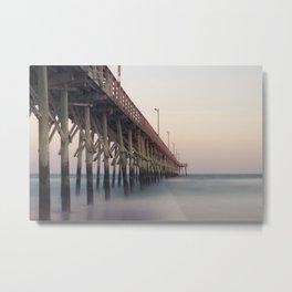 Pier at Dusk Metal Print
