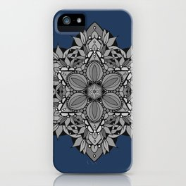 Star Mandala with Navy iPhone Case