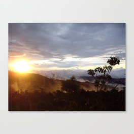 Sunset over the jungle in Costa RIca Canvas Print