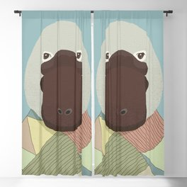 Whimsical Platypus Blackout Curtain