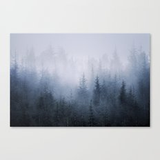 Misty fantasy forest. Canvas Print