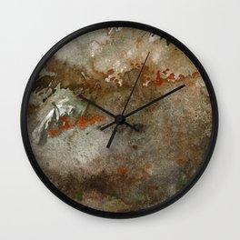 Scotish environment along seashore Wall Clock
