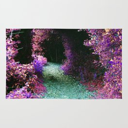 Purple Fantasy Woodland Forest Path Rug