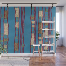 Layered on blue Wall Mural