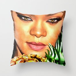 Rihanna Eyes Throw Pillow